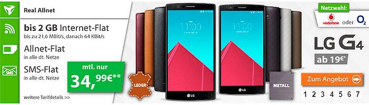 LG G4 mit real Allnet-Flat