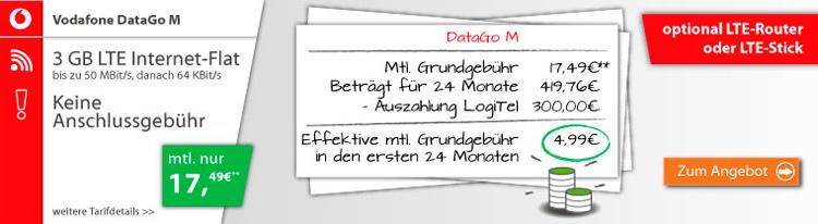 Vodafone DataGo M mit Bargeld