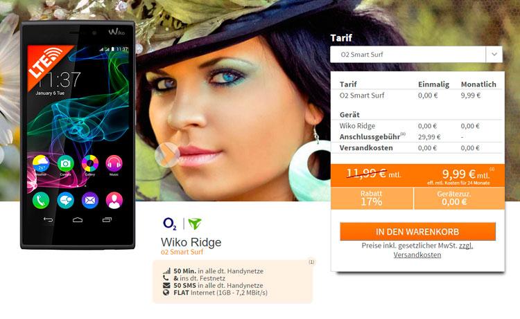 o2 Smart Surf & Wiko Ridge Smartphone