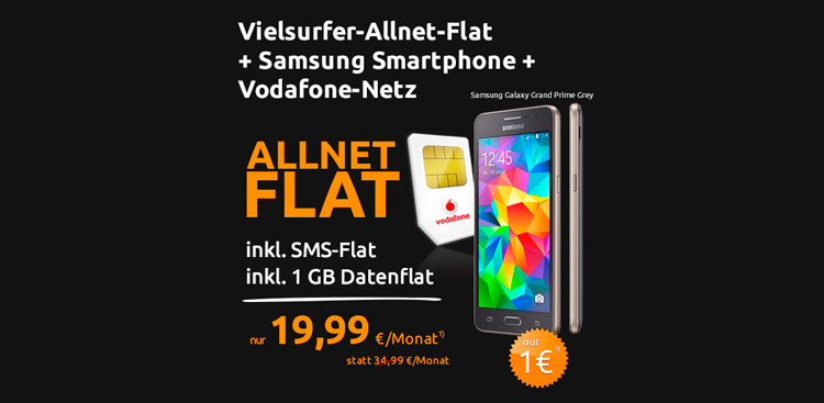 crash-tarife Allnet-Flat mit Samsung Grand Prime