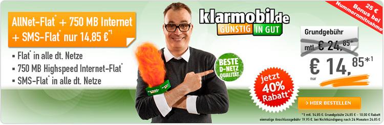 handybude Klarmobil Allnet Spar-Flat