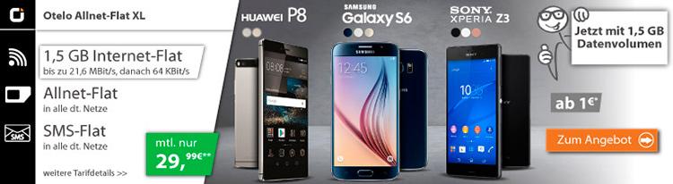 otelo Allnet-Flat XL und Smartphone