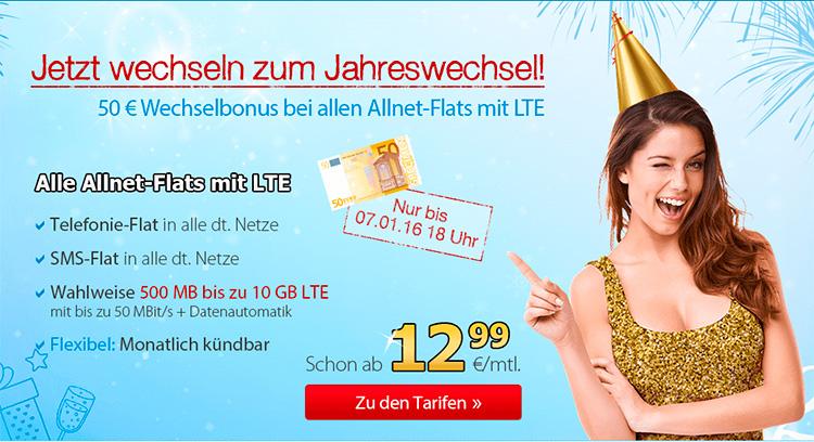 Deutschlandsim Allnet-Flats mit LTE Aktion