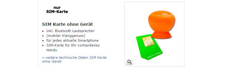 Mobildiscounter nur SIM Karte