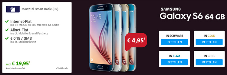 Sparhandy MoWoTel - Samsung Galaxy S6