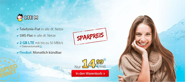Deutschlandsim LTE M - Winter Angebot