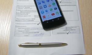Papieren und Handy