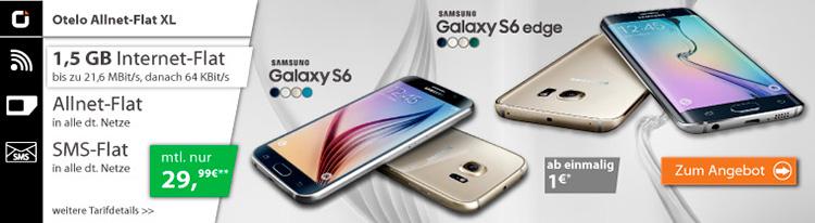 Samsung Galaxy S6 im Otelo Allnet-Flat XL