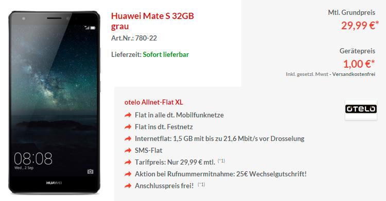 Otelo Allnet-Flat XL mit Huawei Mate S 32GB