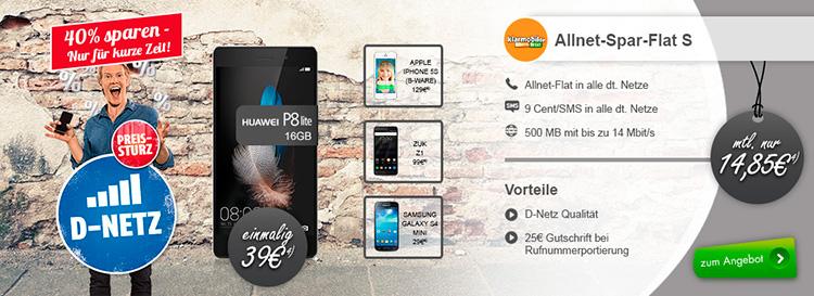 modeo - Huawei P8 Lite + Klarmobil Allnet-Spar-Flat S