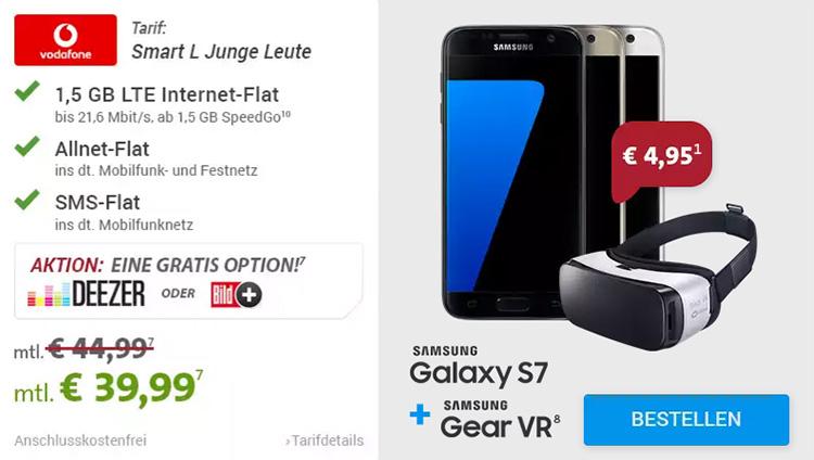 Sparhandy - Smart L Junge Leute Samsung Galaxy S7 S7 Edge + VR