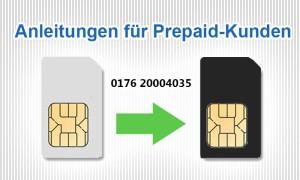 Anleitungen für Prepaid-Kunden