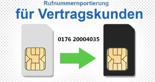 Rufnummernportierung für Vertragskunden