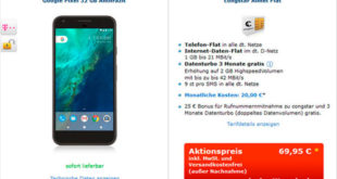 Google Pixel + Congstar Allnet-Flat